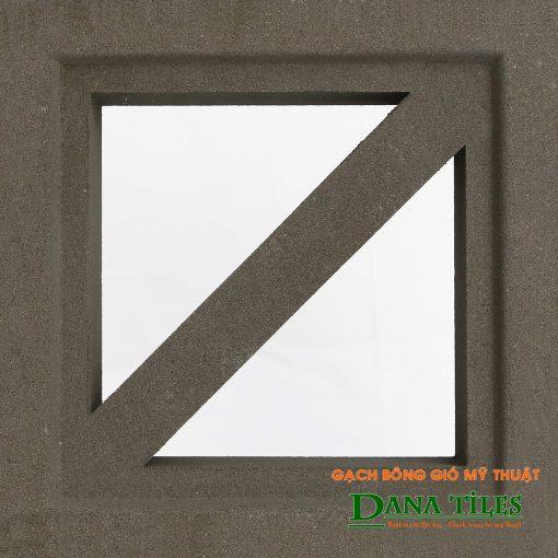 Gạch bông gió xi măng Danatiles D-011 màu đen