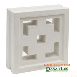 Gạch bông gió xi măng trắng Dana tiles D-08