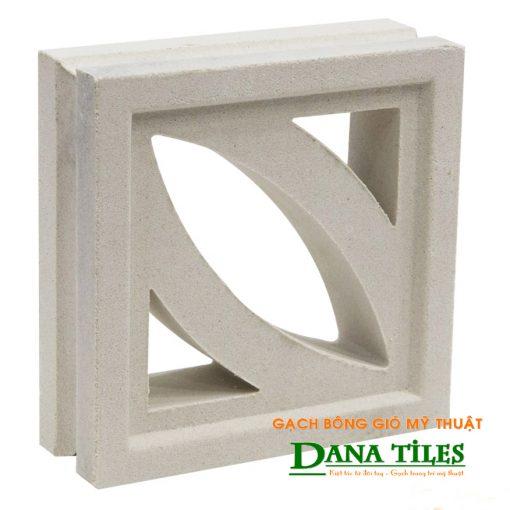 Gạch bông gió xi măng trắng Dana tiles D-01