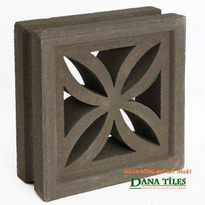 Gạch bông gió xi măng Dana tiles D-04 màu đen